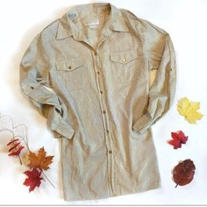 Michael Kors long sleeve gold/tan blouse